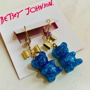 💙BETSEY JOHNSON:Gummy Bear Bow Dangle Earrings💙